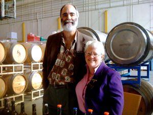 Carol Shelton and Mitch Mackenzie at Rockpile AVA Tasting held at Rockwall Wine Co.